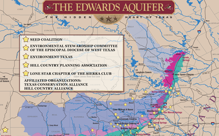 Edwards Aquifer Interactive Map of Member Groups